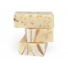 Натуральное мыло-скраб  ЛЕМОНГРАСС  для жирной и комбинированной кожи, глубоко очищает, отшелушивает, восстанавливает, эффективно при угревой сыпи  100g СпивакЪ